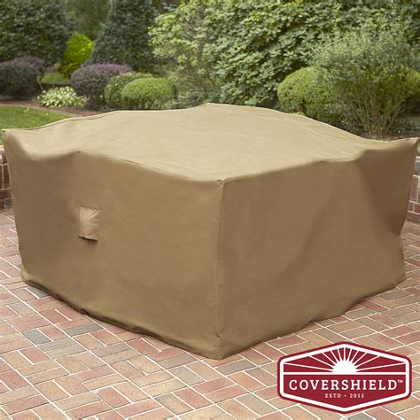 Square Patio Furniture Cover Covershield 5 Square Dining Set Cover Deluxe Outdoor Living Patio Furniture