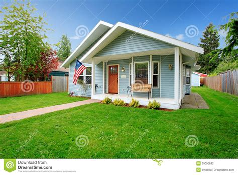 american small house classic american house stock photo image of front