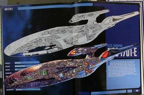 star trek uss enterprise d schematics cutaway schematic of u s s enterprise ncc 1701 e star