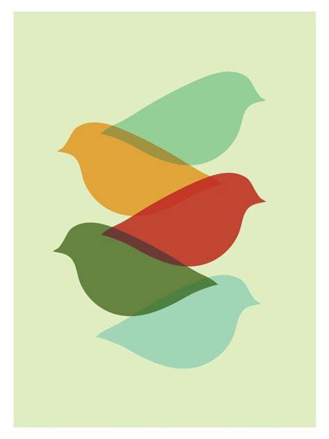 design art printers mid century modern bird art print free shipping