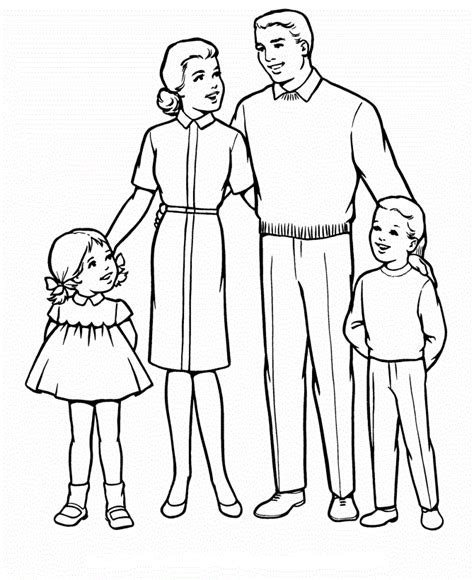 coloring page of family respect your parents coloring page coloring pages