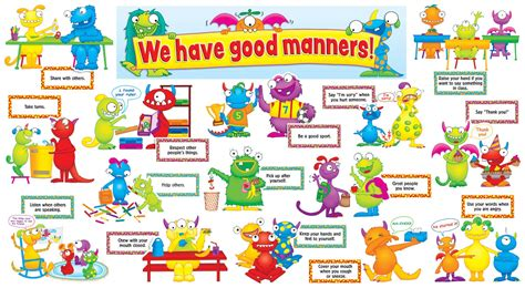 themes of discovery english good manners for kids preschool perfect for first day of