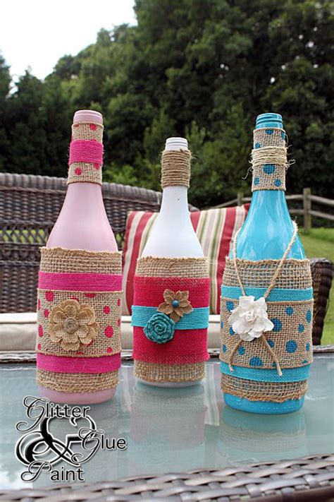 make gorgeous diy gifts with recycled burlap wine