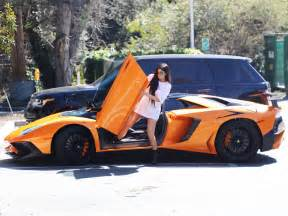 jenners new car jenner emerges from flashiest car instyle