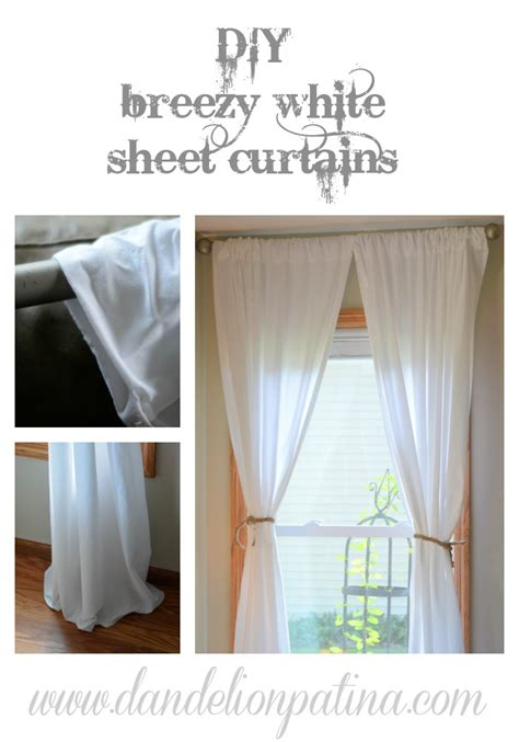 diy sheet curtains diy simple white sheet curtains dandelion patina