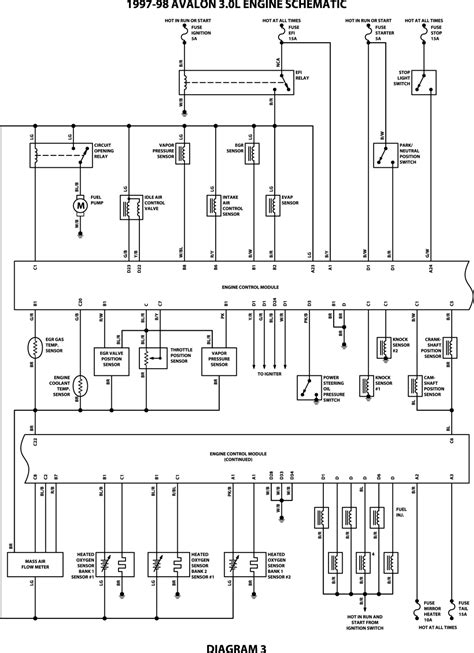 97 toyota avalon radio diagram 97 get free image about