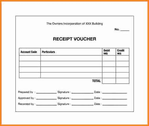 free receipt voucher template best of receipt voucher sample sample