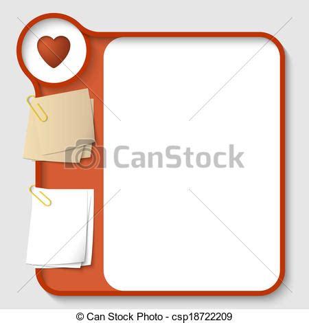 cornici per testo cuore vettore testo due clip carta immagini