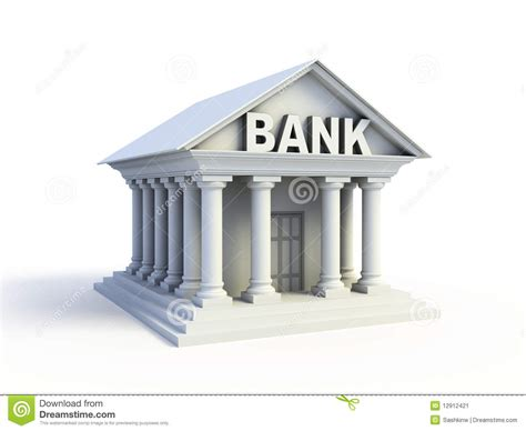 bank de 3d pictogram de bank stock afbeelding beeld 12912421