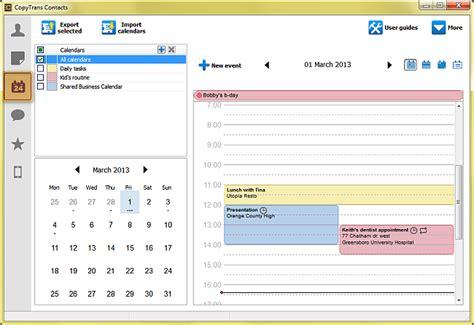Backup Calendar Iphone Calendar How To Backup Iphone Calendar To Pc