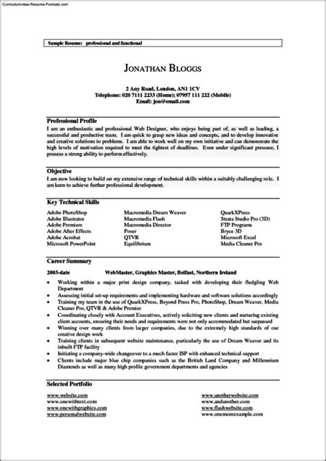 resume templates for it professionals resume templates for it professionals free sles