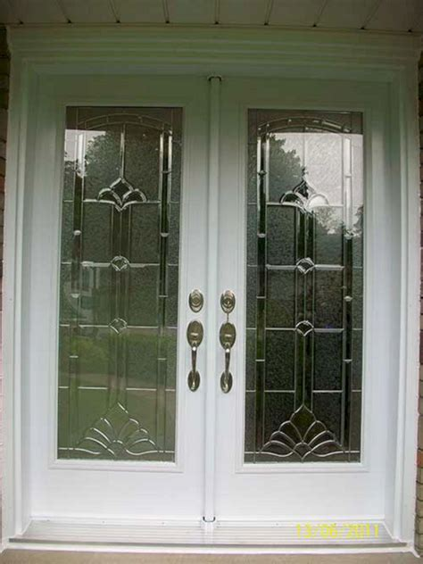 Exterior Double Front Entry Doors With Glass Exterior Glass For Front Door