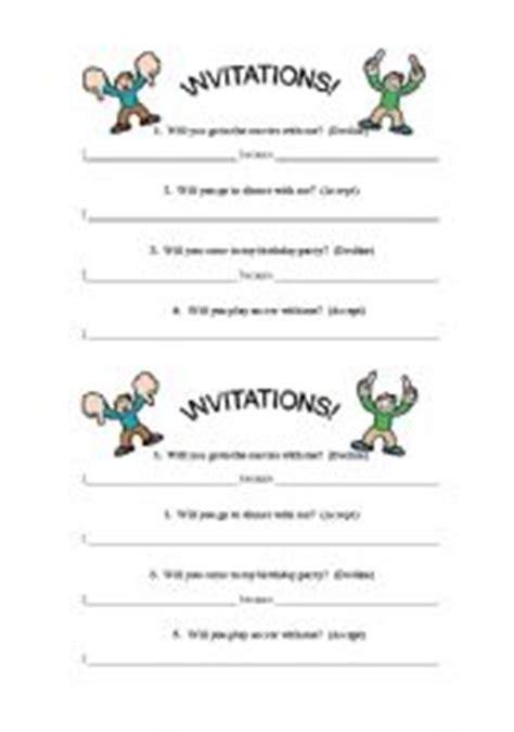 Invitation Letter Worksheet Teaching Worksheets Invitations