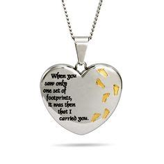 Footprint Shape Pendant For footprints poem jewelry footprints in the sand necklace