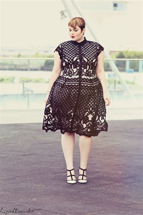 fashionstyles for heavy set older women black white lace lu zieht an 174