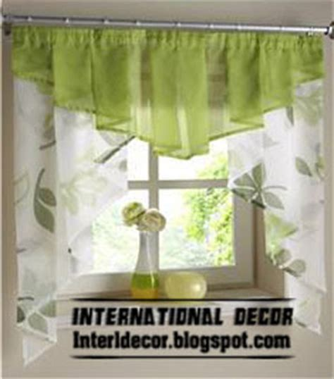 Green Kitchen Curtains Designs Small Curtains Models For Kitchens In Different Colors International Decoration