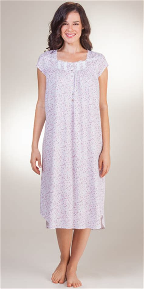 cotton knit nightgown eileen west nightgowns mid length jersey cotton knit