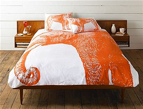 an elephant duvet cover in orange decoist