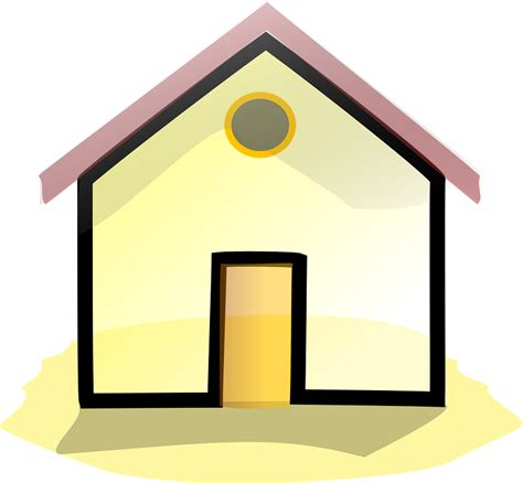 layout rumah kung kartun rumah free vector graphic building home house