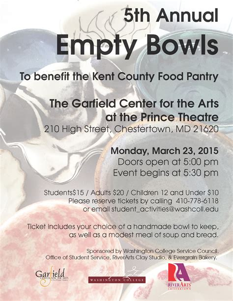 empty bowls food pantry fundraiser the garfield center