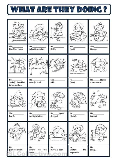 printable games english language learners present continuous worksheet free esl printable