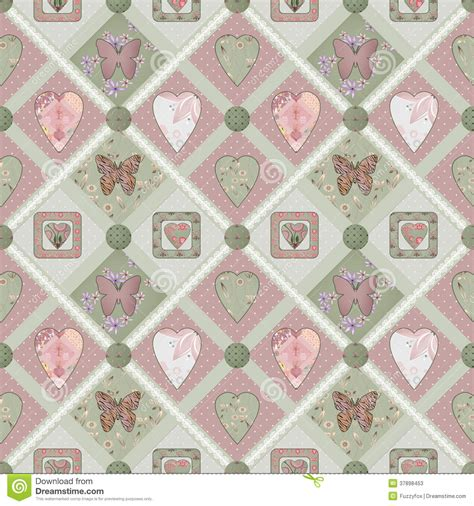 Patchwork Squares Patterns - patchwork pink squares seamless pattern texture stock