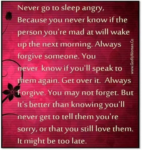 never go to bed angry never go to bed mad wonderful quotes pinterest