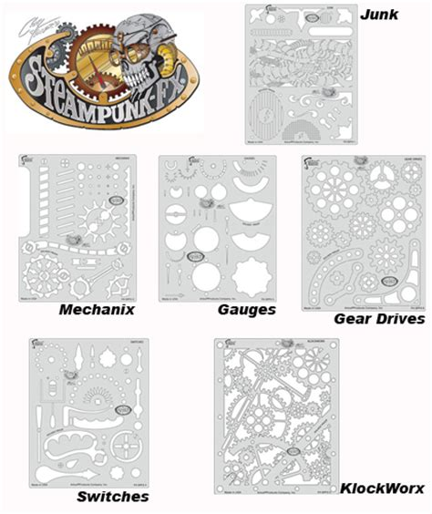 printable gear templates buy artool template fhspfx7 steunk fx set