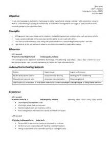 What Is A Resume Supposed To Look Like by Building Your Automotive Technician Geared Resume Auto Repair Facts