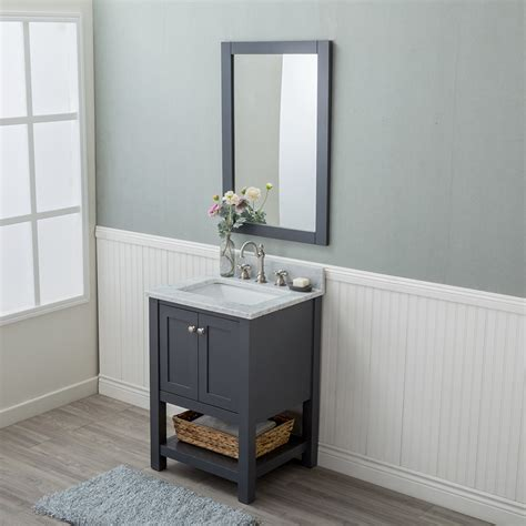 bathroom vanities wilmington nc alya bath wilmington 24 in single bathroom vanity in gray