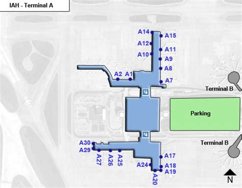 houston airport map terminal c iah houston intercontinental airport terminal maps