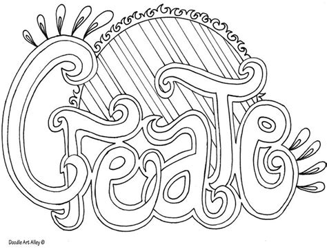 Great Coloring Pages Http Www Doodle Art Alley Com Word Coloring Pages Words