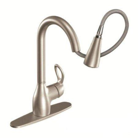 Moen Kleo Kitchen Faucet by Moen Ca87011srs Kleo 1 Handle High Arc Pull Faucet