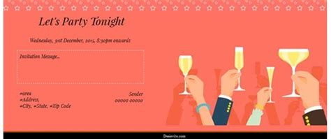 invitation cards for get together party images