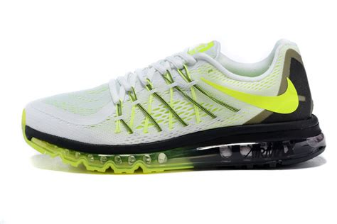nike air max running shoes for nike air max 2015 mens white volt black running shoes