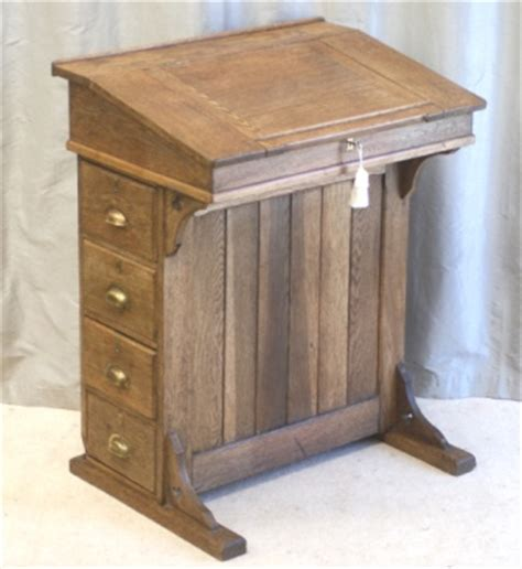 Antique Oak Clerks Desk Lectern Reception Desk Antique Reception Desk