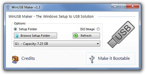 format dvd to bootable winusb maker lets you create bootable usb from folders