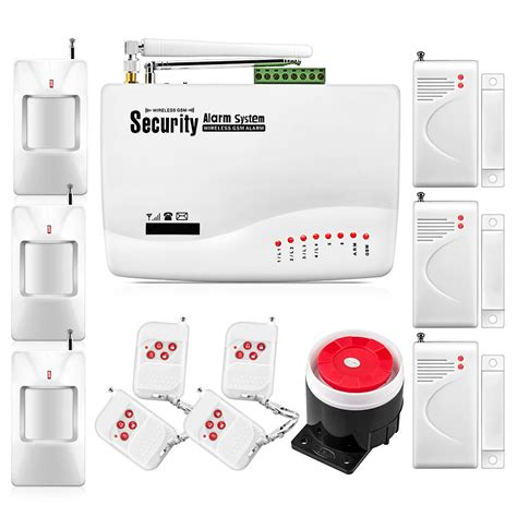Jual Alarm Wireless Gsm free shipping wireless gsm alarm system for home security system tri band 900 1800 1900mhz dual