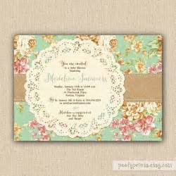 rustic shabby chic baby shower invitations diy printable baby shower invitations charlotte