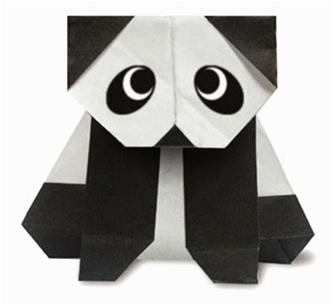 Origami Panda Easy - panda front side easy origami for