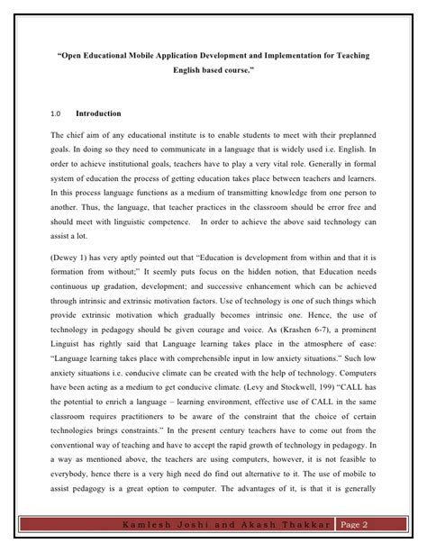 research paper on kamlesh akash research paper on open educational app