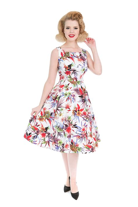 kleid swing 50er jahre retro flower petticoat swing kleid v hearts