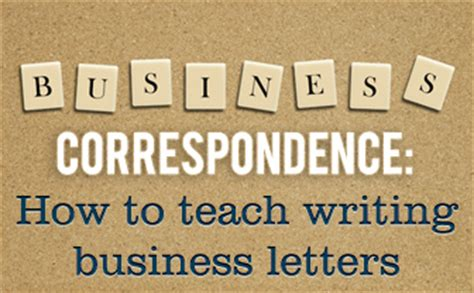 How To Teach Business Letter In How To Teach Correspondence To Your Esl Students Writing