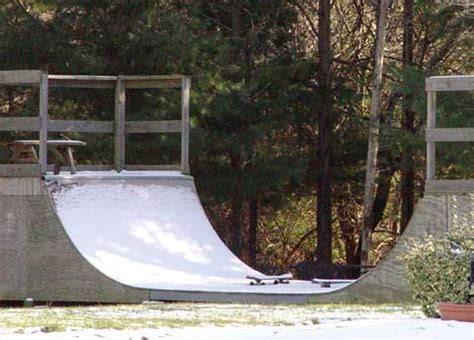 how to build a halfpipe in your backyard skateboarding articles new england winters avoiding r rot by winterizing