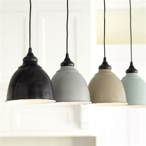 Ballard Design Fabric small industrial metal shade with adapter hardwire light