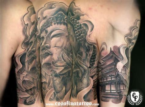 tattoo oriental buddha tatuaje buda templo flor loto oriental japones tattoo