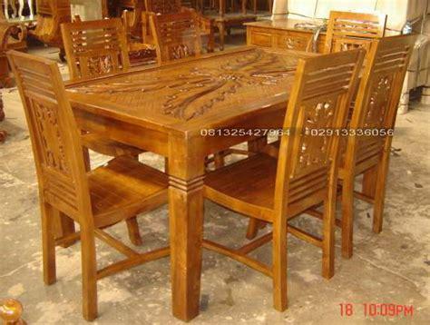 Meja Makan Ukiran 6 Kursi set meja kursi makan minimalis ukiran pakis kayu jati jepara ud lumintu gallery furniture