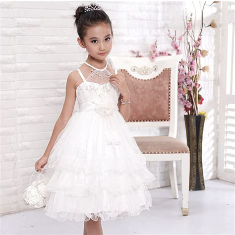 10 Year Old Girls Birthday Dresses   girls flower girl dress for wedding party pearl decorated