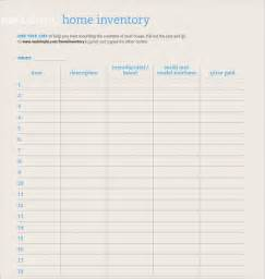 free home inventory template sle home inventory template free documents