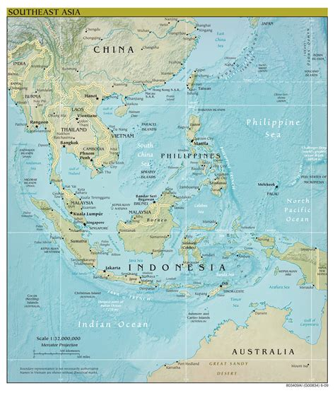 political map of southeast asia large scale political map of southeast asia with relief